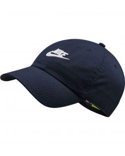 casquette nike sportswear heritage86 futura bleue 913011 451