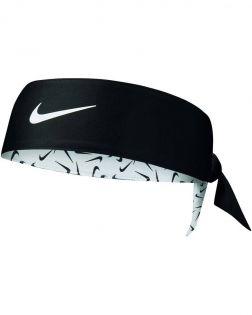 Bandeau réversible Nike Printed Dri-FIT 2.0 Noir et Blanc