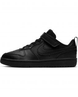 Chaussures Nike Court Borough Low 2 Noires pour Enfant BQ5451-002