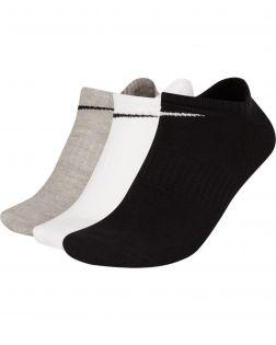 Lot de 3 paires de Chaussettes Nike Everyday Lightweight Taille :L Couleur: Blanc/Gris/Noir Lot de 3 paires de chaussettes
