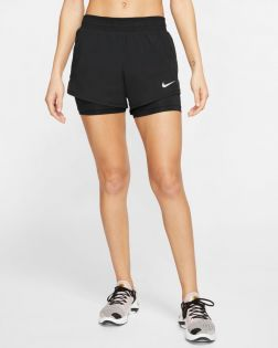 Short Nike Running 2 en 1 Noir pour Femme CK1004-010