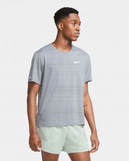Maillot Running Nike Miler Gris pour Homme CU5992-084