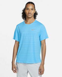 maillot running nike miler bleu lagon pour homme CU5992 447
