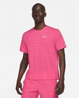 Maillot de running pour Homme Nike Dri-FIT Miler Taille :M Couleur: Hyper Pink/Reflective Silver Maillot pour homme