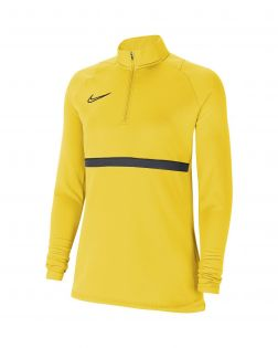 haut entrainement 1 4 zip nike academy 21 jaune femme CV2653 719