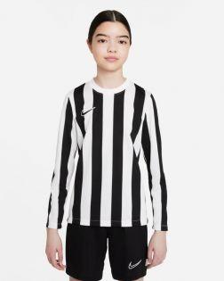 maillot nike striped division 4 blanc noir enfant CW3825 100