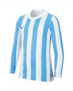 maillot nike striped division 4 blanc bleu ciel enfant CW3825 103