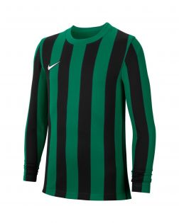 maillot nike striped division 4 noir vert enfant CW3825 302