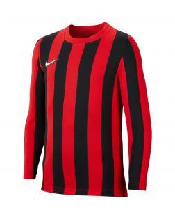 maillot nike striped division 4 rouge noir enfant CW3825 658