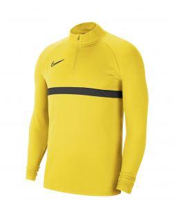 sweat 1 4 zip nike academy 21 jaune homme CW6110 719