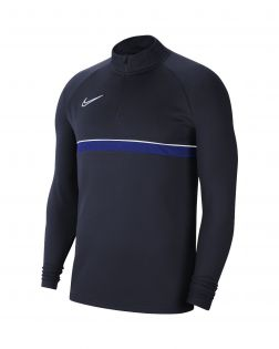 sweat 1 4 zip nike academy 21 bleu marine enfant CW6112 453
