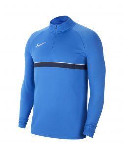 sweat 1 4 zip nike academy 21 bleu royal enfant CW6112 463
