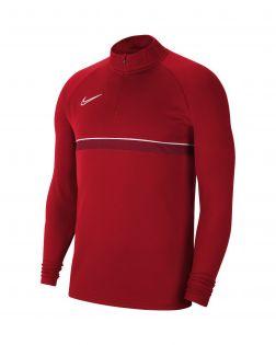 sweat 1 4 zip nike academy 21 rouge enfant CW6112 657