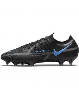 Chaussures de football Nike Phantom GT2 Elite FG Noires et Bleues - Renew Pack - CZ9890-004
