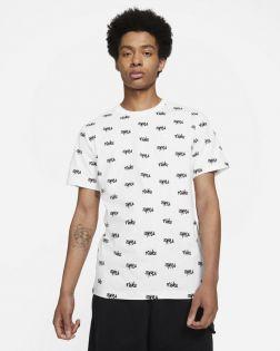 T-shirt Nike Sportswear Printed Club LBR Blanc pour Homme DA0514-100