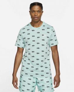 t shirt nike sportswear printed club lbr vert homme DA0514 382