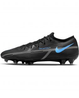 Chaussures de football Nike Phantom GT2 Pro FG Noires et Bleues - Renew Pack - DA4432-004