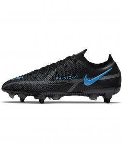 Chaussures de football Nike Phantom GT2 Elite SG-Pro AC Noires et Bleues - Renew Pack - DC0753-004