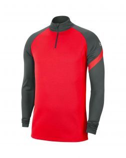 Haut d'entrainement 1/4 zip Nike Academy Pro anthracite et rouge crimson pour Homme Haut 1/4 Zip pour homme
