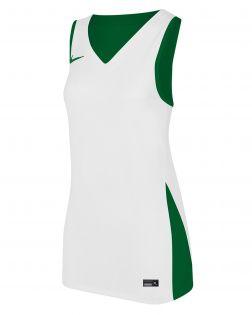 maillot de basket reversible nike blanc vert femme NT0213 302