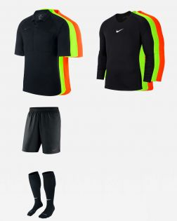 Pack Nike Arbitre officiel fff 3 maillots, 3 sous maillots, short, chaussettes AA0735 AV2609 AA0737 SX5728