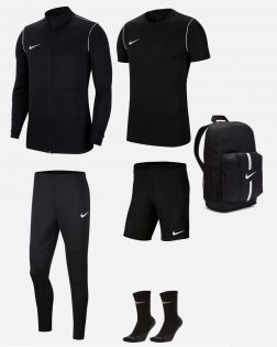 Pack Entrainement Nike Park 20 maillot, short, chaussettes, survetement, sac, parka