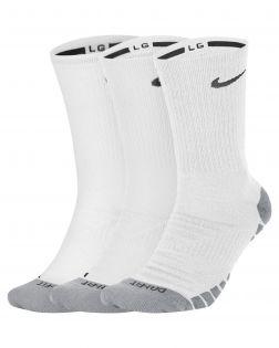 Lot de 3 paires de Chaussettes Nike blanches Dry Cushion Crew Training SX5547-100