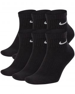 lot 6 paires chaussettes nike everyday cushioned noires SX7669 010