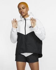Veste Nike Sportswear Windrunner Blanche et Noire pour Femme BV3939-101