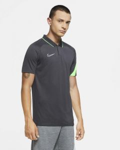 Polo Nike Academy Pro Anthracite et Vert pour Homme BV6922-060