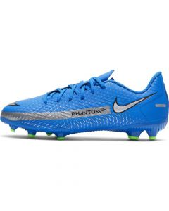 Chaussures de football Nike Jr. Phantom GT Academy MG Bleues pour Enfant CK8476-400