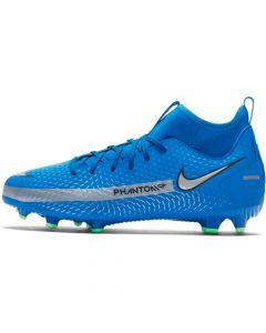 Chaussures de football Nike Jr. Phantom GT Academy MG Bleues pour Enfant CW6694-400
