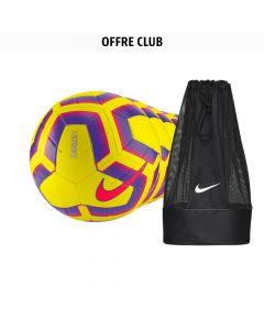 Lot de 22 ballons Nike Strike Jaune Orange + 1 sac à ballon Nike