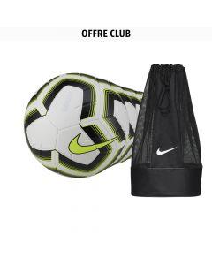 Lot de 22 ballons Nike Strike Jaune Fluo + 1 sac à ballon Nike