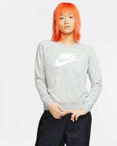 Sweat Nike Sportswear Essential pour Femme Taille : L Couleur : Dark Grey Heather/Black