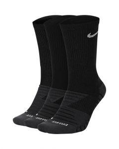 Lot de 3 paires de Chaussettes Nike Dry Cushion Crew Training Taille :M Couleur: Noir