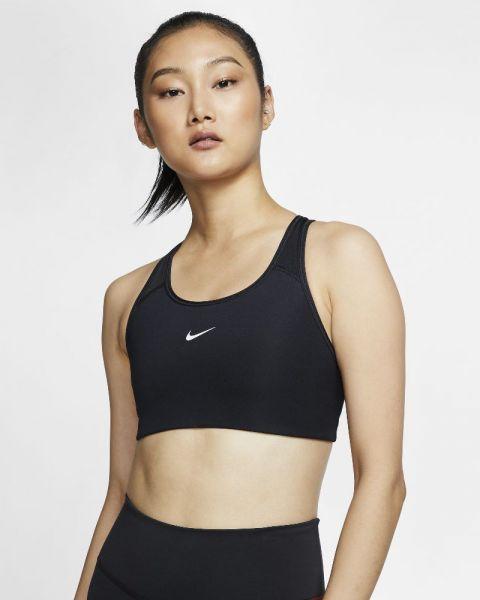 Brassière avec coussinet une pièce Nike Swoosh Noire pour Femme BV3636-010