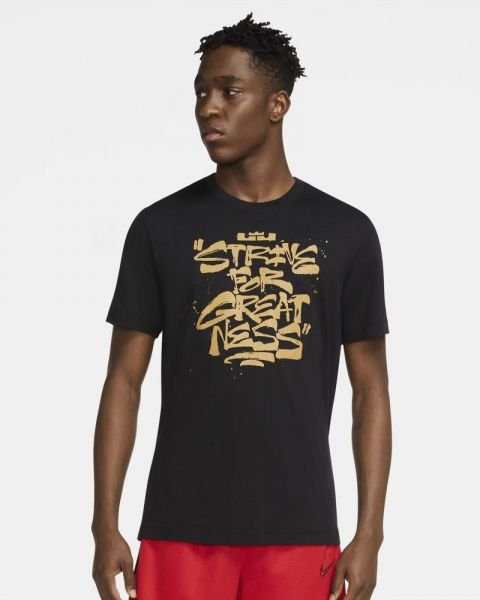 T-shirt Nike Lebron Strive For Greatness Noir pour Homme DD0785-011