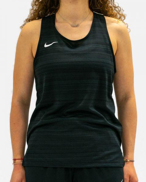 NT0301-010 Débardeur de running Nike Stock Dry Miler Noir pour Femme
