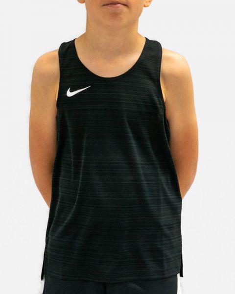 NT0302-010 Débardeur de running Nike Stock Dry Miler Noir pour Enfant