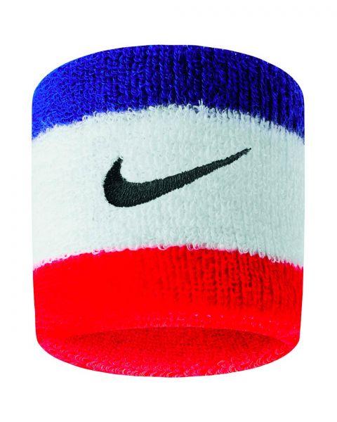 Lot de 2 serre-poignets Nike Swoosh Rouges et Bleus PAC277-620