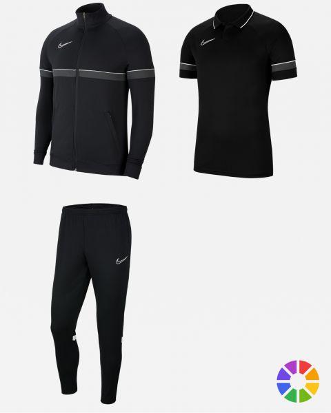 Pack Entrainement Nike Academy 21 maillot, short,chaussettes, polo, survetement, sac, parka