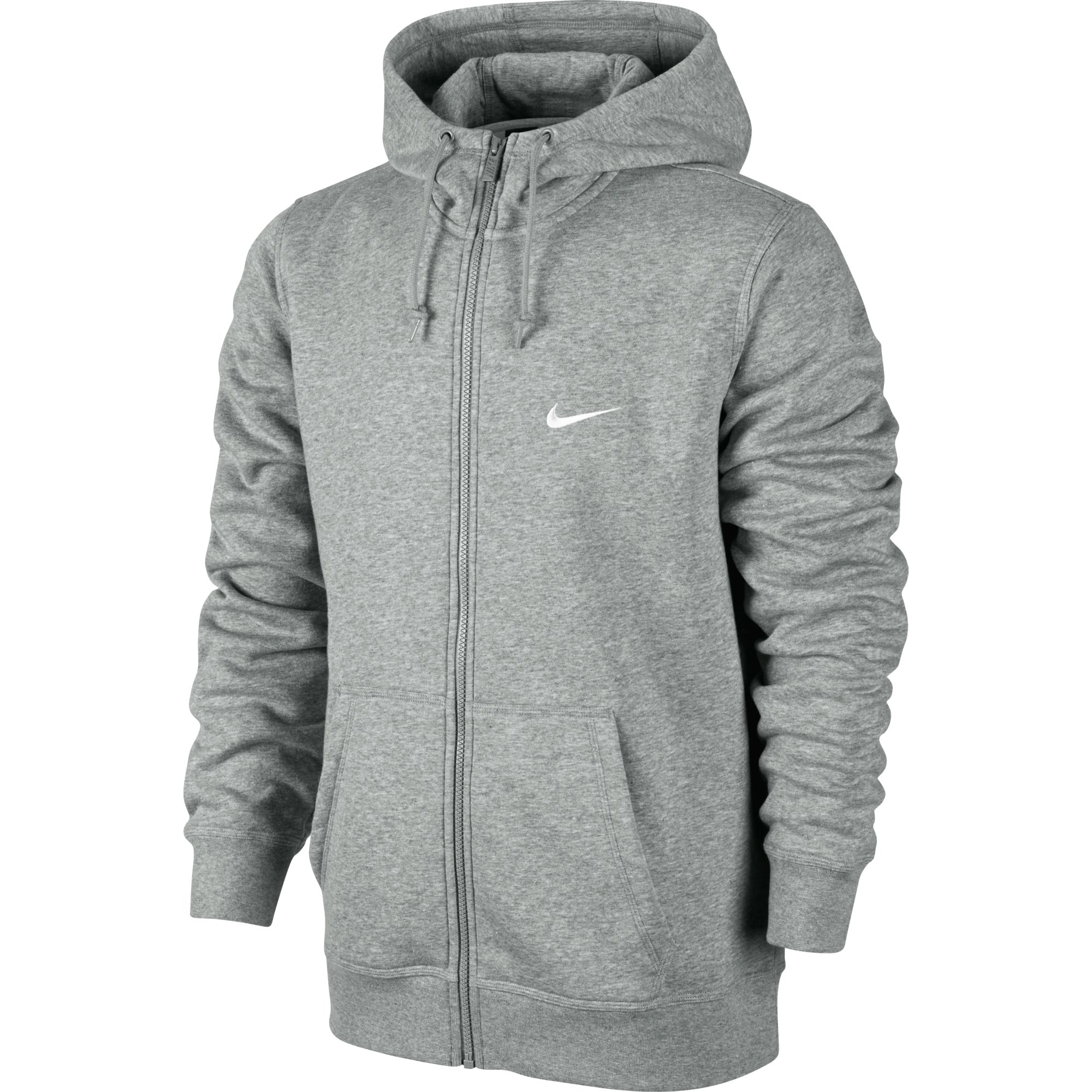 Sweat à Capuche Nike Club Swoosh Full Zip pour Homme Gris | EKINSPORT