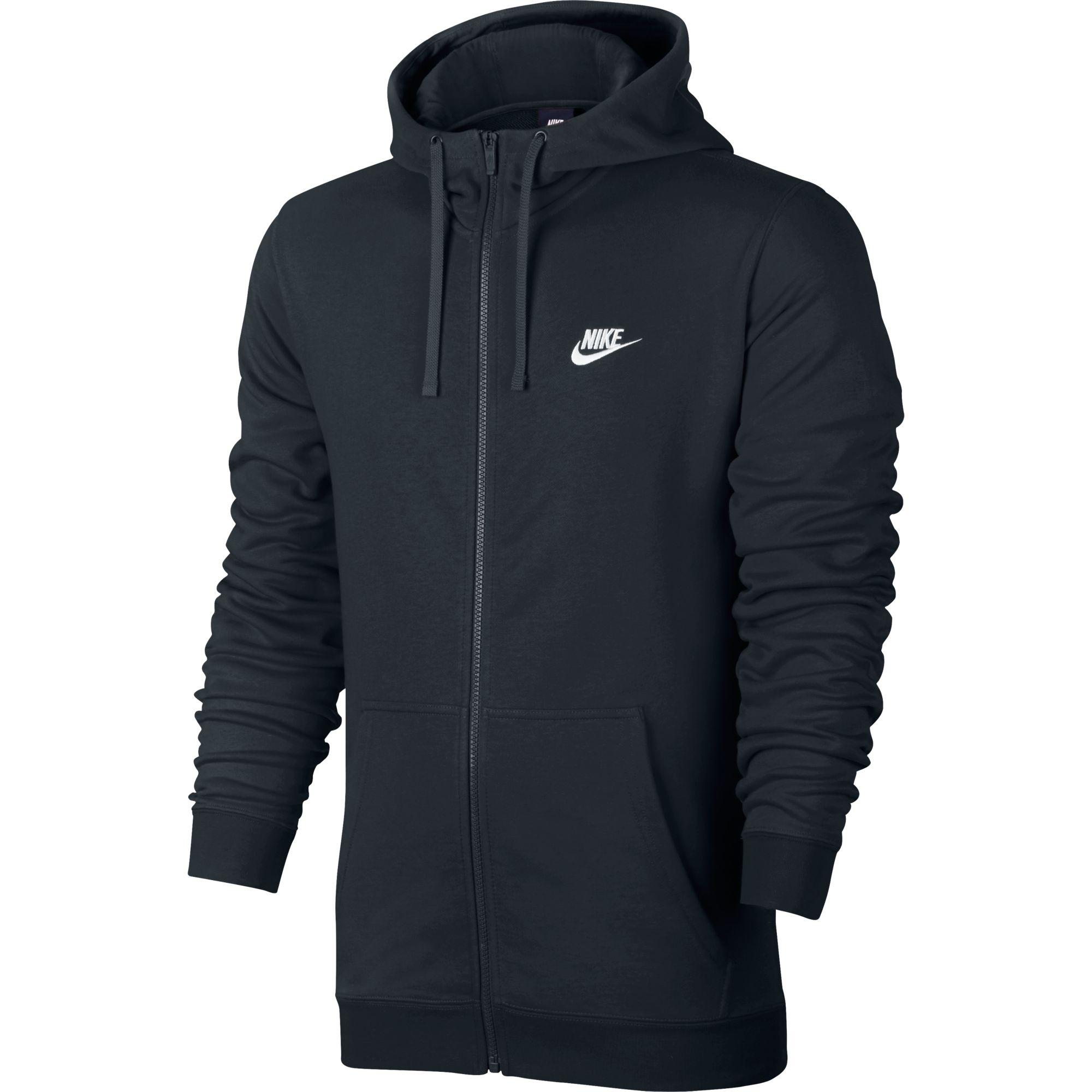 Veste à capuche zippée noir Nike FT Club pour Homme | EKINSPORT