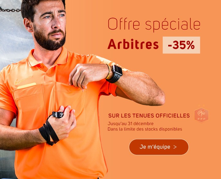 Offre spéciale arbitres FFF