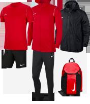 Ensemble maillot / short / survêtement / veste imperméable / sac à dos