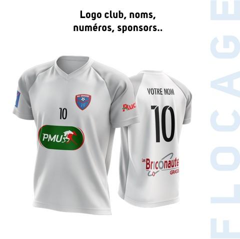 Flocages logo club, noms, numéros et sponsors