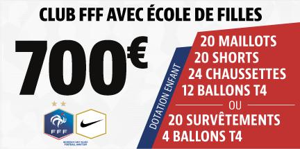 Club FFF de plus de 100 licenciés avec école de filles